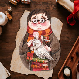 Postikortti Harry Potter - Matryoshka Harry