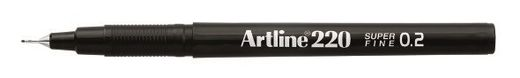 Artline 220 writing pen 0.2mm - Black Noir