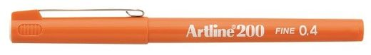 Artline 200 writing pen 0.4mm - Orange