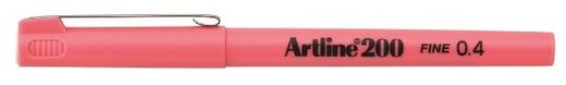 Artline 200 writing pen 0.4mm - Pink