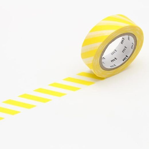 MT Masking tape - Stripe lemon