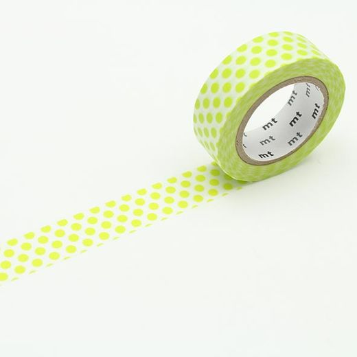 MT Masking tape - Dot lime