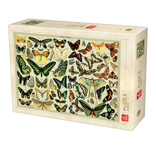 Palapeli Deico Games - Encyclopedia Butterflies (1000 palaa)