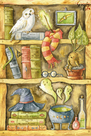 Postikortti Harry Potter - Sorcerer's cupboard