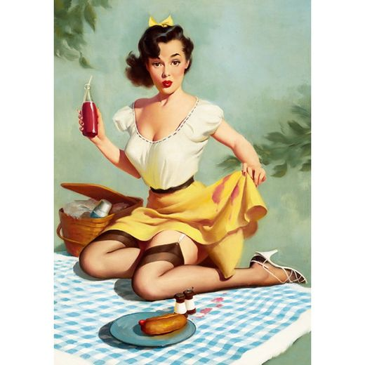 Postikortti Pin-Up - Picnic