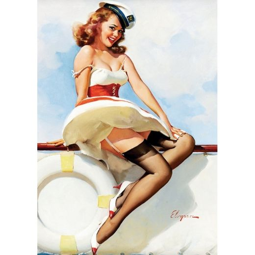 Postikortti Pin-Up - The sailor