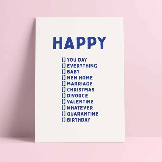 Postikortti Studio Inktvis - Happy You day...