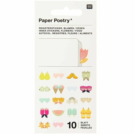Sivunmerkkaajasetti Paper Poetry - Index Flow