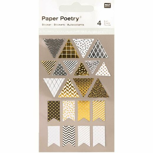 Tarrasetti Paper Poetry - Metallic Pennants