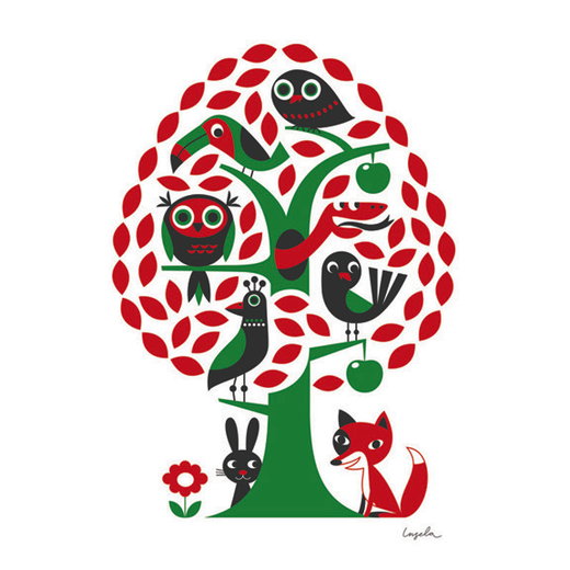 Juliste Omm Design - Animal tree