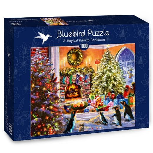 Palapeli Bluebird - A Magical View to Christmas (1000 palaa)