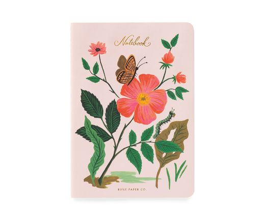 Vihko Rifle Paper Co. A5 - Botanical pink flowers