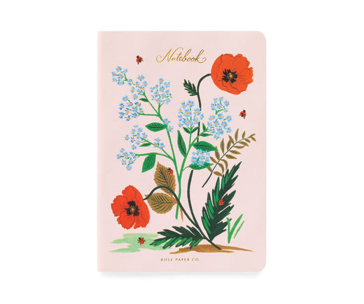 Vihko Rifle Paper Co. A5 - Botanical red flowers
