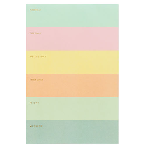 Memo notepad Rifle Paper Co. - Color block