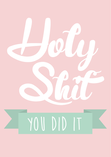 Postikortti Studio Inktvis - Holy shit you did it