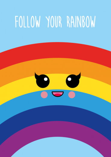 Postikortti Studio Inktvis - Follow your rainbow