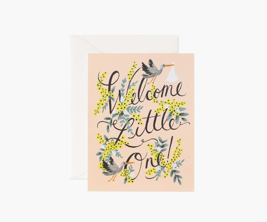Onnittelukortti Rifle Paper Co. - Welcome Little One