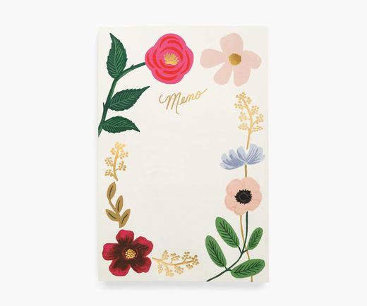 Memo notepad Rifle Paper Co. - Wildflowers