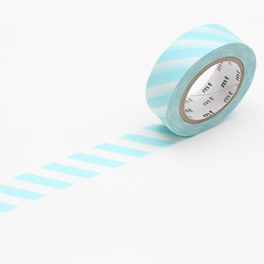 MT Masking tape - Stripe mint blue