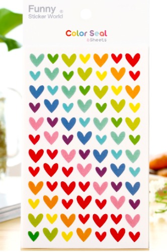 Tarrapaketti Funny Sticker World - Hearts
